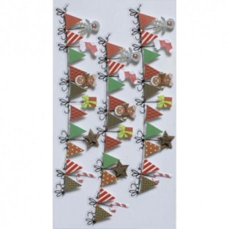 Artoz - Stickers - Christmas garland
