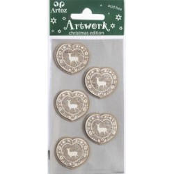 Artoz - Stickers - deer white/wood