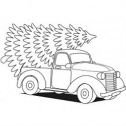 Artemio - Timbro in legno - Camion