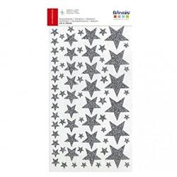 Artemio - Abbellimenti - Stickers Stelle Argento