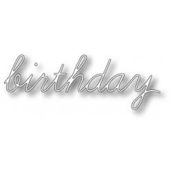Fustella Memory box - Birthday script
