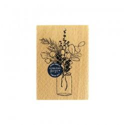 Florileges  Design - Timbro legno - BOUQUET D'HIVER