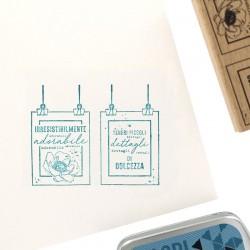 Florileges  Design - Timbro legno - DETTAGLI TENERI