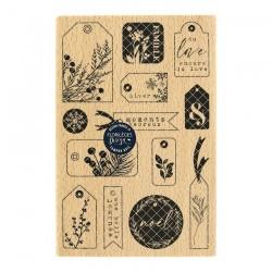 Florileges  Design - Timbro legno - ÉTIQUETTES HIVERNALES