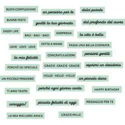 Florileges Design - Abbellimenti Acrilici - DOLCI PAROLE CÉLADON