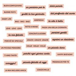 Florileges Design - Abbellimenti Acrilici - DOLCI PAROLE ROSE THÉ