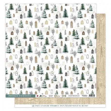 Florileges Design - Carte 12x12 - Oh Winter n°8