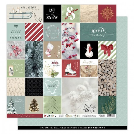 Florileges Design - Carte 12x12 - Oh Winter n°1