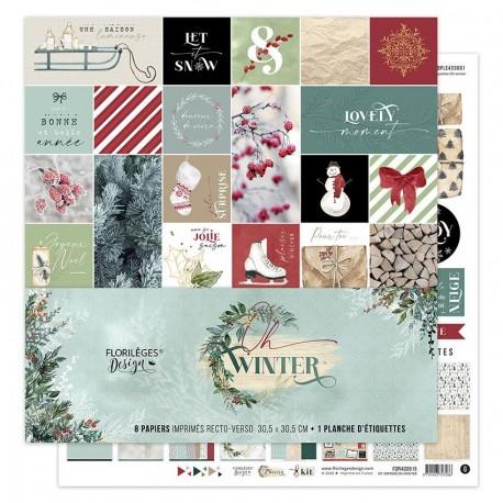 Florileges Design - Carte 12x12 - Oh Winter n°3