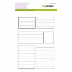 CraftEmotions - Timbro Clear - Planner Essentials Frames