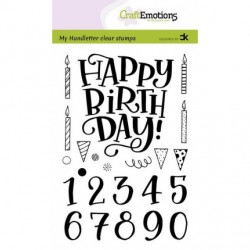CraftEmtions - Timbri Clear - Happy Birthday & Numbers