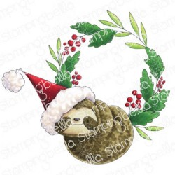 Stamping Bella - Timbri Cling - Sloth on a Wreath