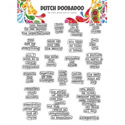 Dutch Doobadoo - Abbellimenti - Stickers Quotes