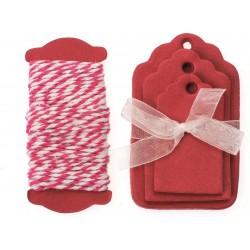 Glorex - Kit tags - Rosso
