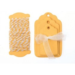 Glorex - Kit tags - Giallo