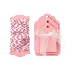 Glorex - Kit tags - Rosa