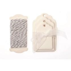 Glorex - Kit tags - Bianco