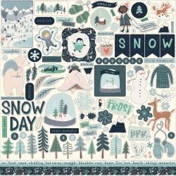 "Carta Bella - Stickers 12x12"" - Snow Much Fun"