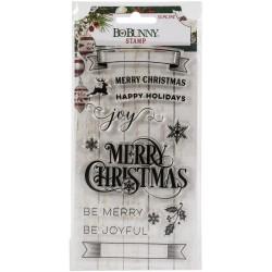 BoBunny - Timbri Clear - Joyful Christmas Stamp