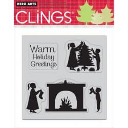 Hero Arts - Timbri Cling - Warm Holiday Greetings