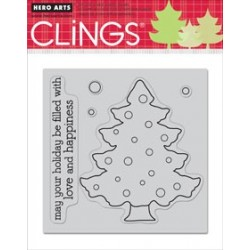 Color Your Own Christmas - Timbri Cling - Hero Arts