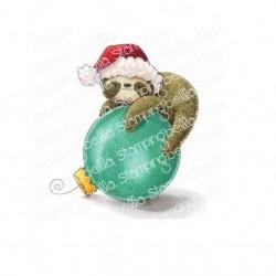 Sloth Ornament - Timbri Cling - StampingBella
