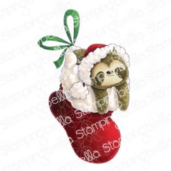 Sloth in a Stocking - Timbri Cling - StampingBella