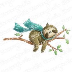 Sloth on a Branch - Timbri Cling - StampingBella