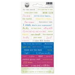 PIATEK13 - Sticker sheet -  The Garden of Books 01
