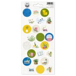 PIATEK13 - Sticker sheet -  The Garden of Books 03