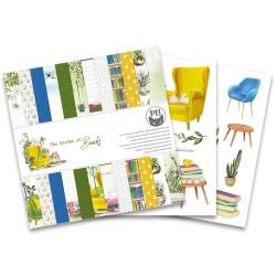 "Piatek13 - Pad The Garden of Books - 6x6"""