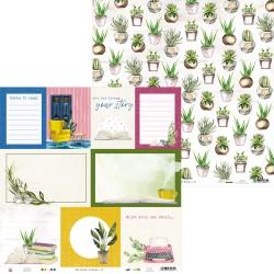 """Piatek13 - Carta 12x12"""" - The Garden of Books 05"""
