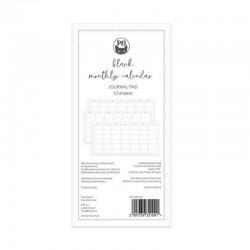 Piatek13 - Blanc monthly calendar