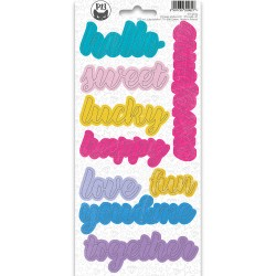 PIATEK13 - Phrase Sticker sheet -  Girl Gang 01