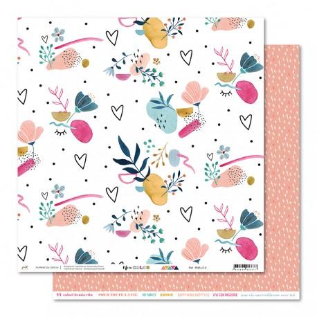 "PaperNova- Carta 12x12"" - Life in Color 3"