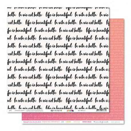 "PaperNova- Carta 12x12"" - Life in Color 2"