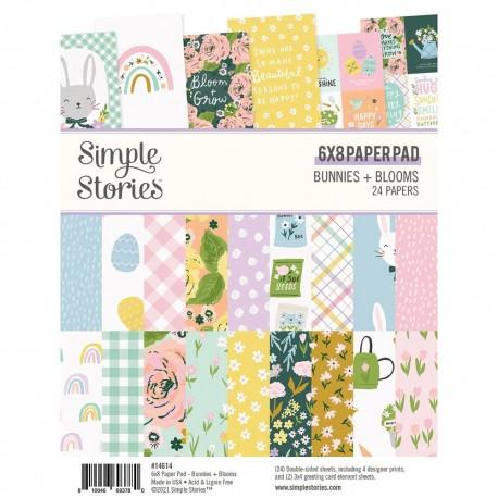 """Simple Stories - Pad Bunnies & Blooms - 6x8"""""""
