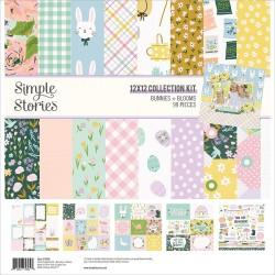 """Simple Stories - Kit Bunnies & Blooms - 12x12"""""""