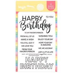Waffle Flower Crafts - Timbri Clear - Happy Birthday