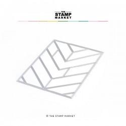 The Stamp Market - Fustella - Chevron Tile Cover