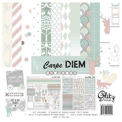 Kit carte Glitz Design Carpe Diem