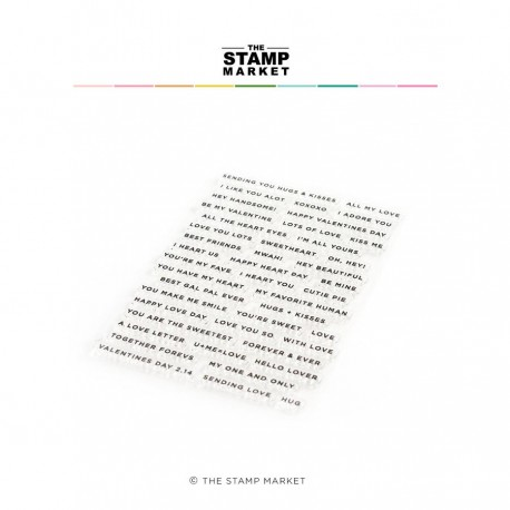 The Stamp Market - Timbri Clear - Lots of Love Notes