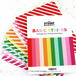 "The Stamp Market - Pad Basic Stripes- 6x8"""