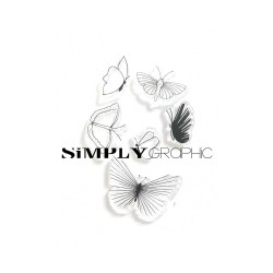 Simply Graphic - Timbri Clear - Papillons