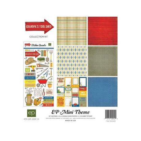 Kit carte Echo Park Mini Themes Grandpa's tool shed