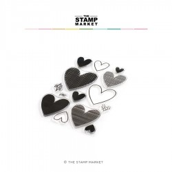 The Stamp Market - Timbri Clear - ALL HEARTS