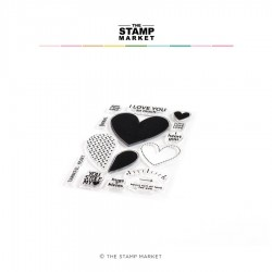 The Stamp Market - Timbri Clear - FULL HEARTS