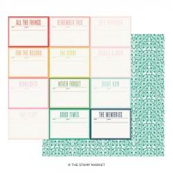 The Stamp Market - Carte 12x12 -  Miss Modern 05