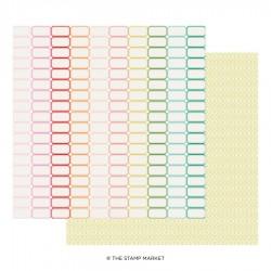 The Stamp Market - Carte 12x12 -  Miss Modern 06