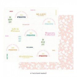 The Stamp Market - Carte 12x12 -  Miss Modern 08